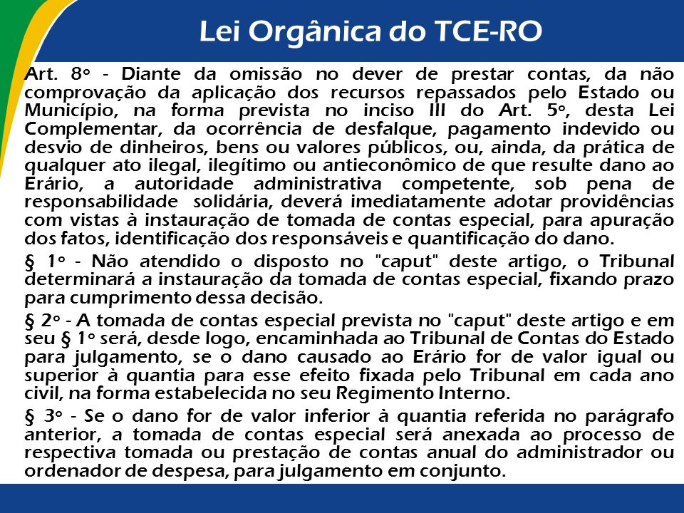 Lei Orgânica do TCE-RO