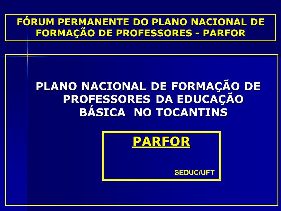 FÓRUM PERMANENTE DO PLANO NACIONAL DE FORMAÇÃO DE PROFESSORES - PARFOR