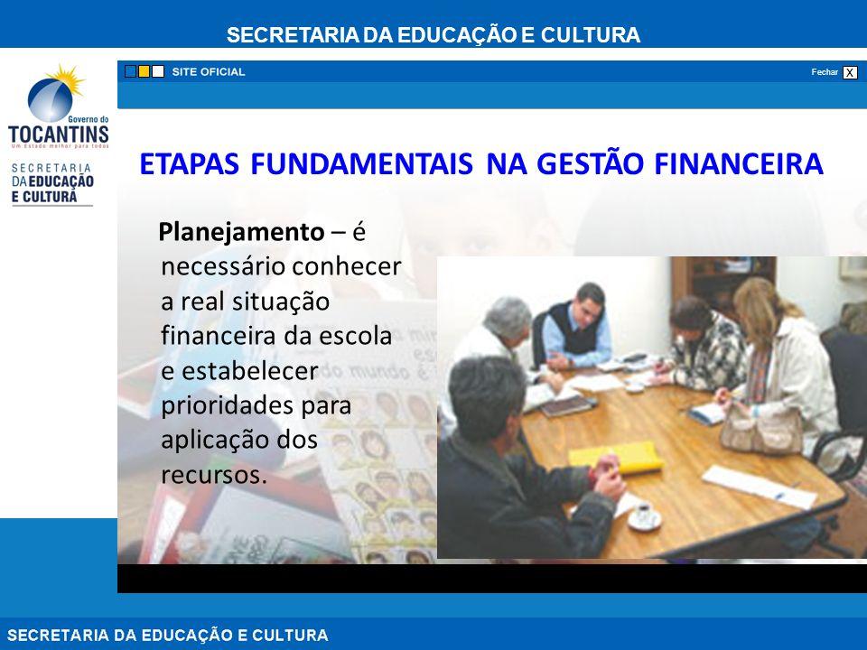 ETAPAS FUNDAMENTAIS NA GESTÃO FINANCEIRA