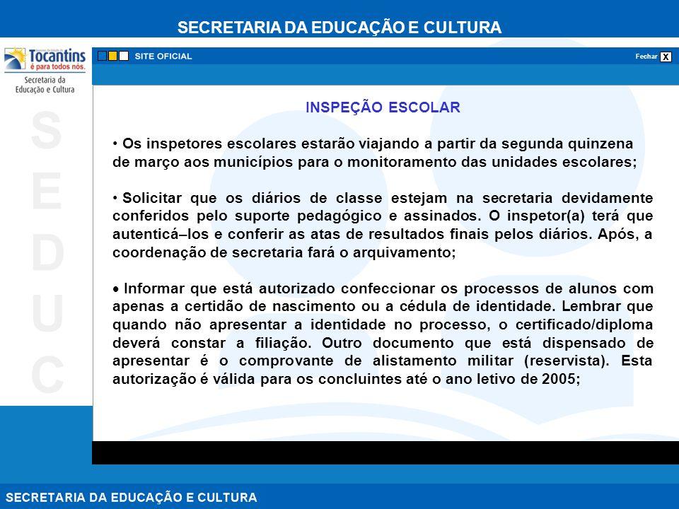 INSPEÇÃO ESCOLAR