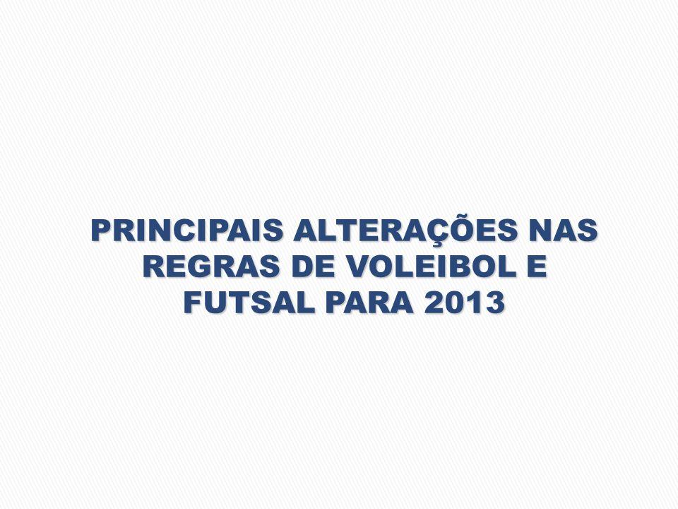 PRINCIPAIS ALTERAÇÕES NAS REGRAS DE VOLEIBOL E