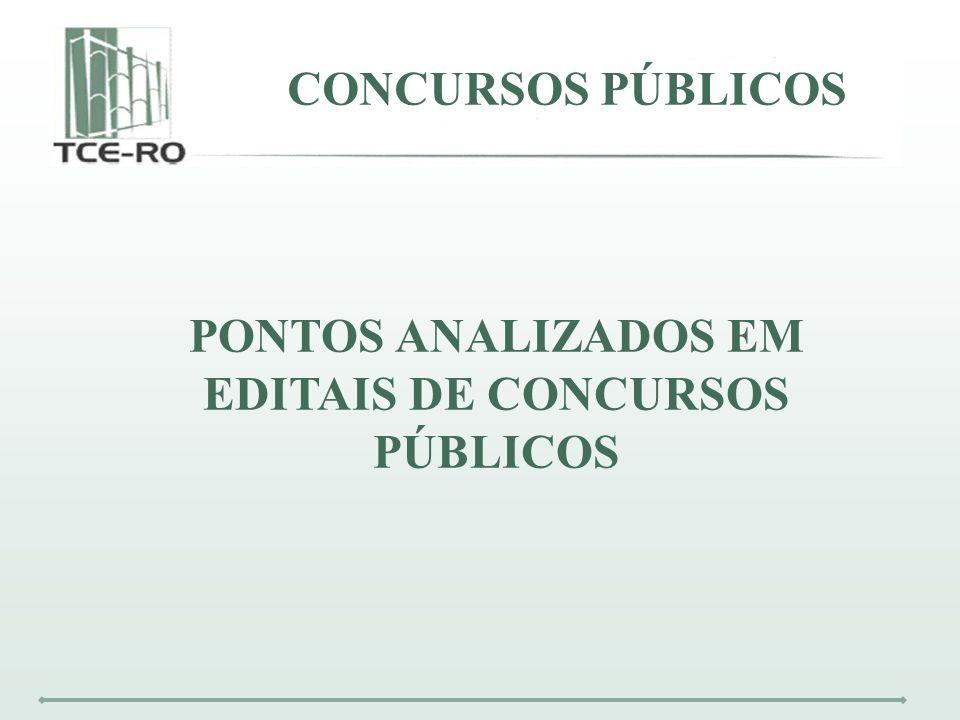 EDITAIS DE CONCURSOS PÚBLICOS