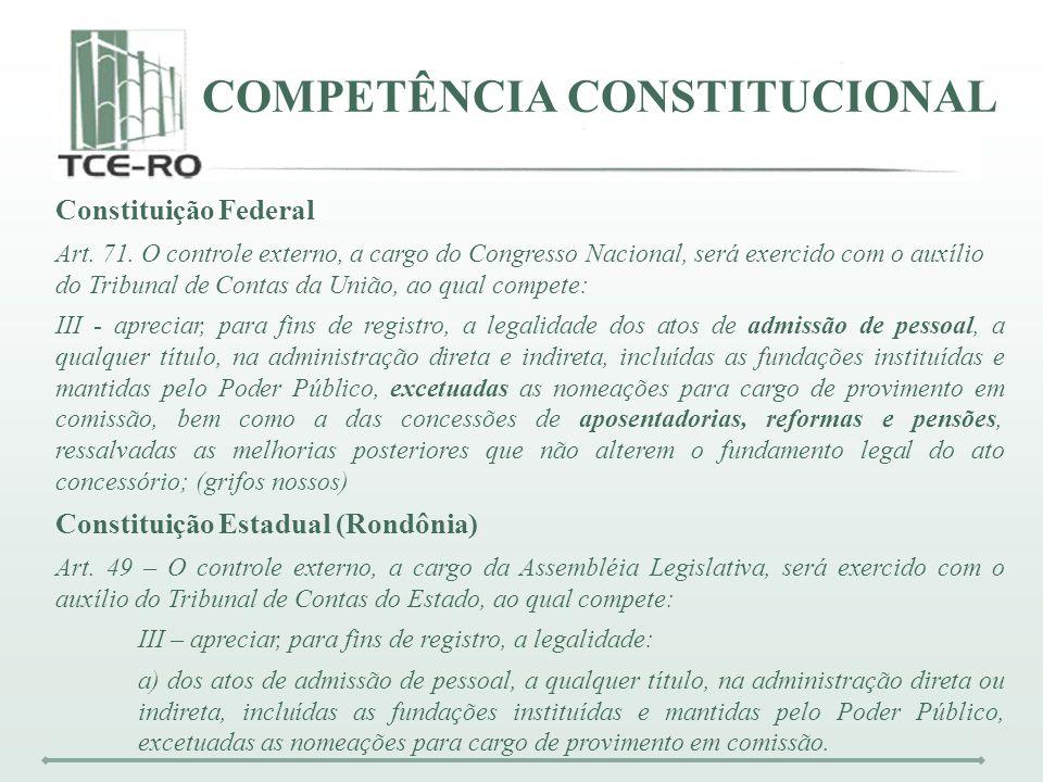 COMPETÊNCIA CONSTITUCIONAL