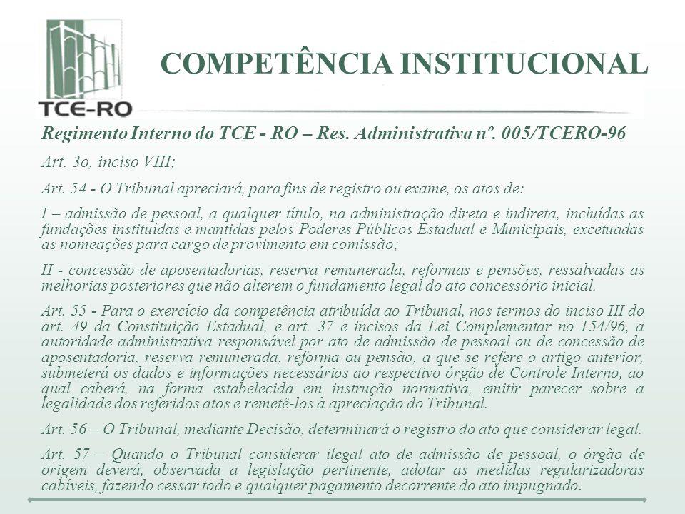 COMPETÊNCIA INSTITUCIONAL