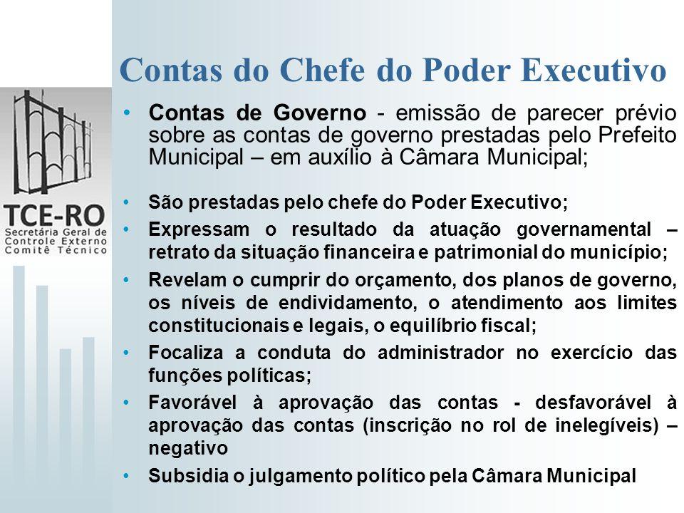 Contas do Chefe do Poder Executivo