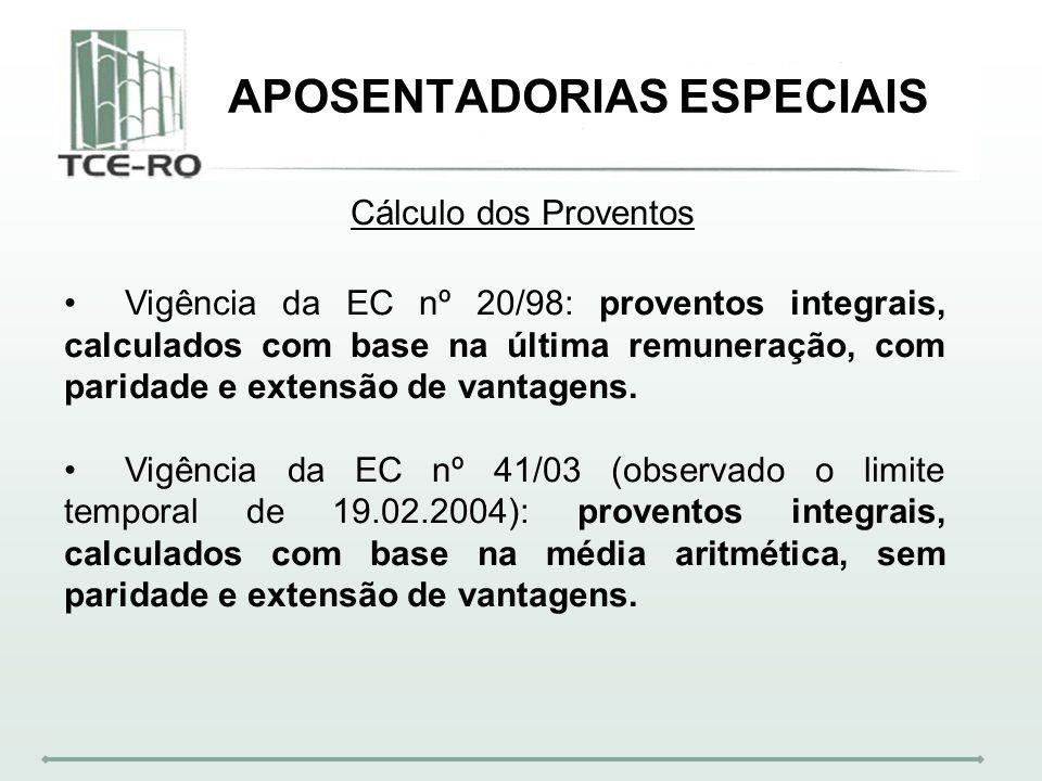 APOSENTADORIAS ESPECIAIS
