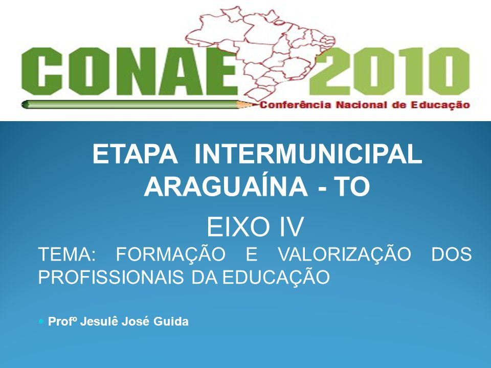 ETAPA INTERMUNICIPAL ARAGUAÍNA - TO