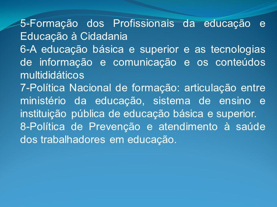 5-Formação dos Profissionais da educação e Educação à Cidadania