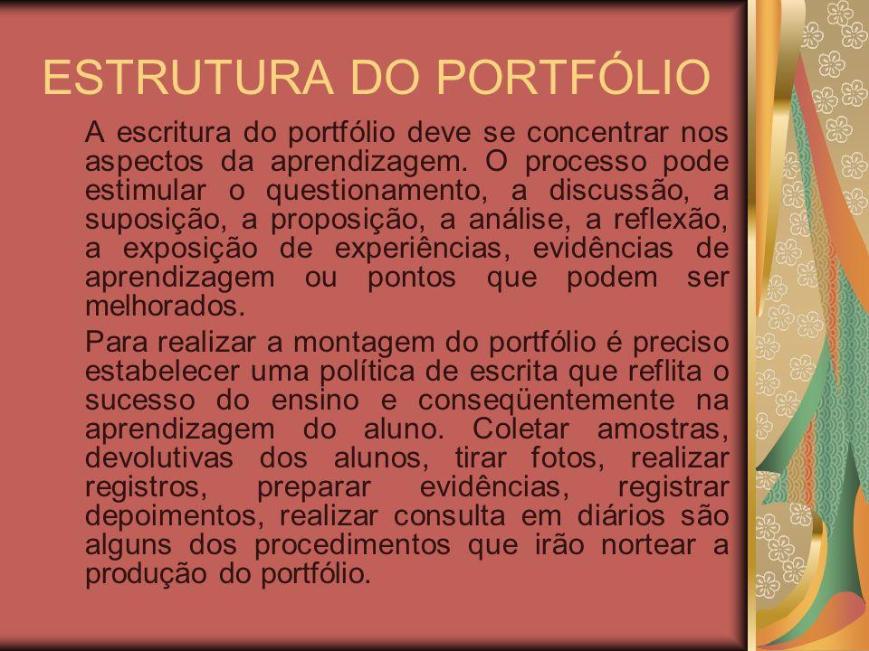 ESTRUTURA DO PORTFÓLIO