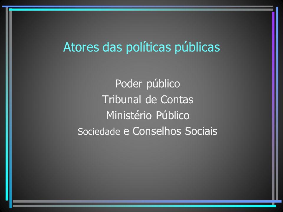 Atores das políticas públicas