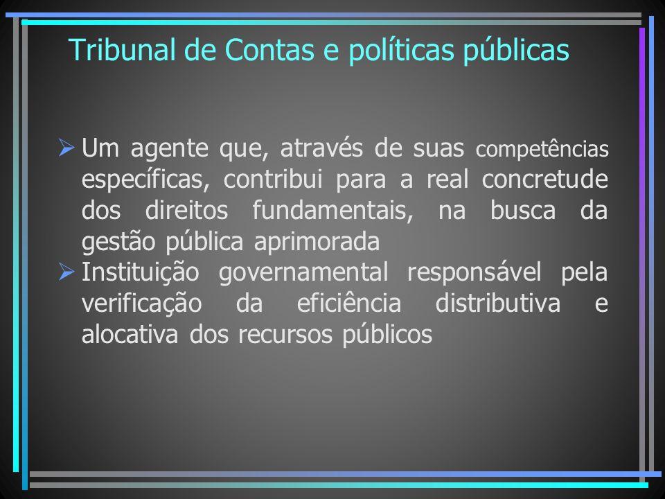 Tribunal de Contas e políticas públicas