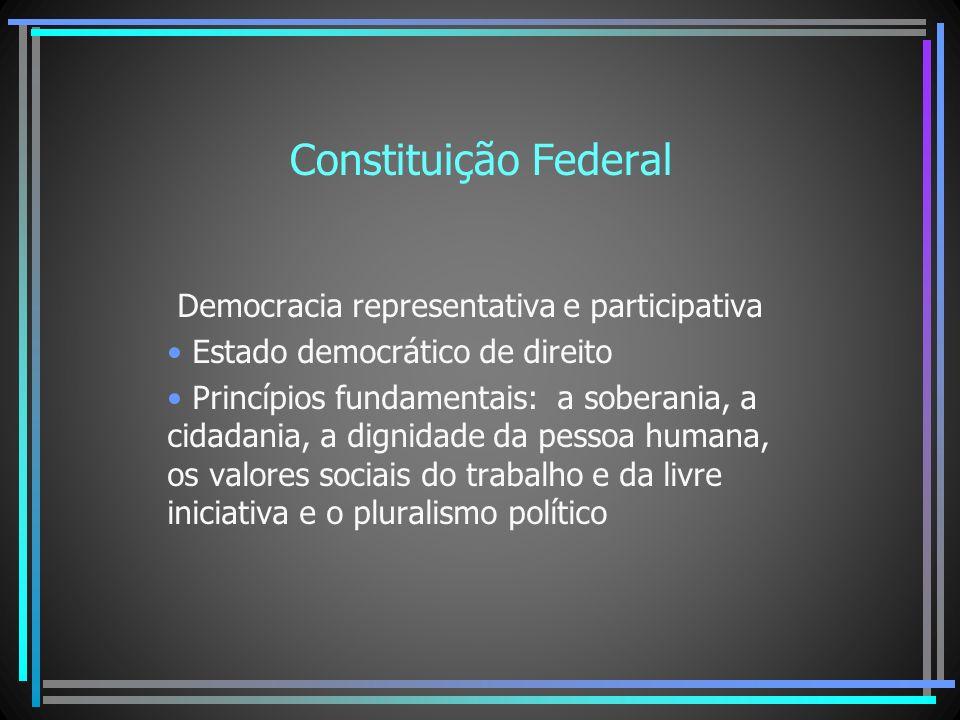 Constituição Federal Democracia representativa e participativa