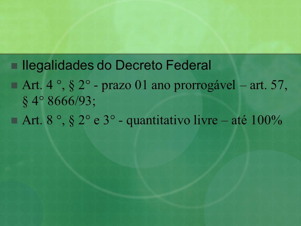 Ilegalidades do Decreto Federal