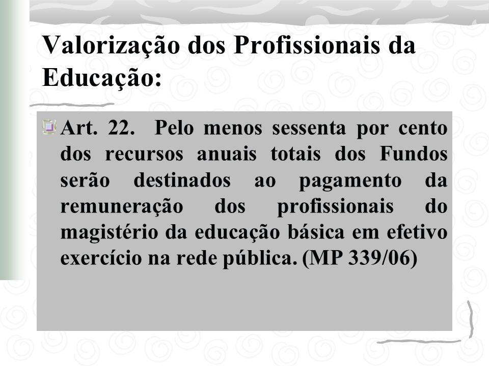 Valorização dos Profissionais da Educação: