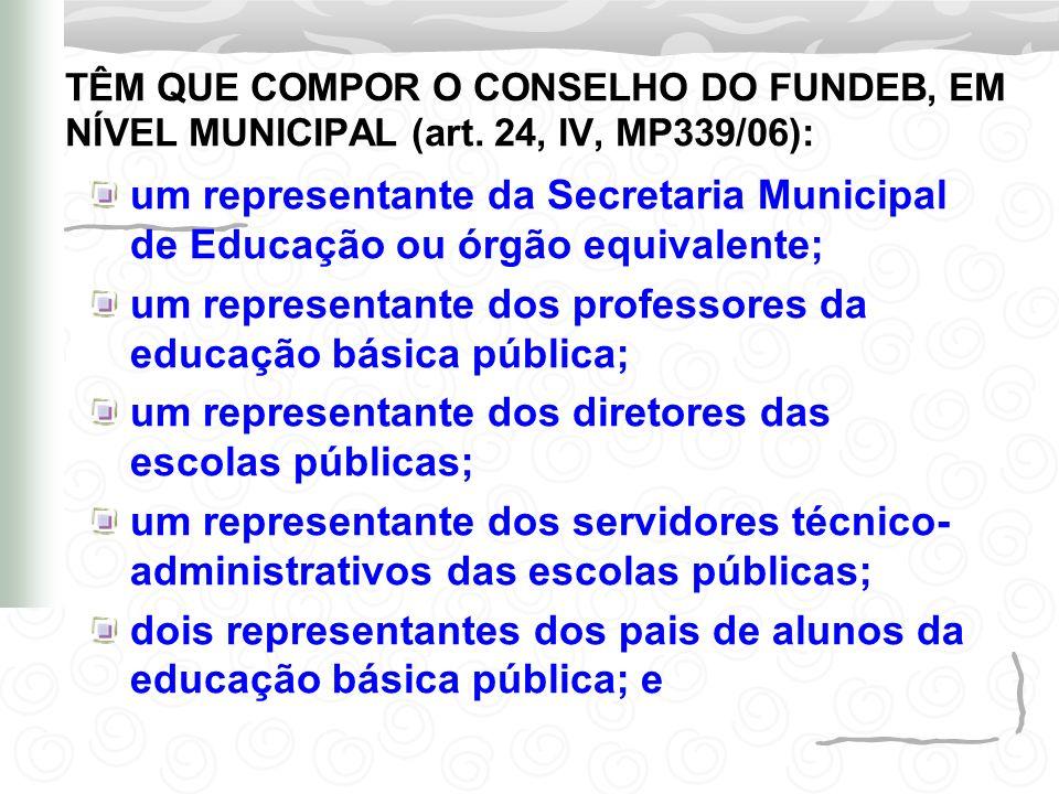 um representante dos professores da educação básica pública;