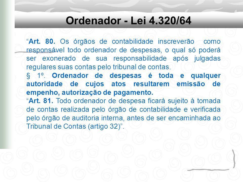 Ordenador - Lei 4.320/64