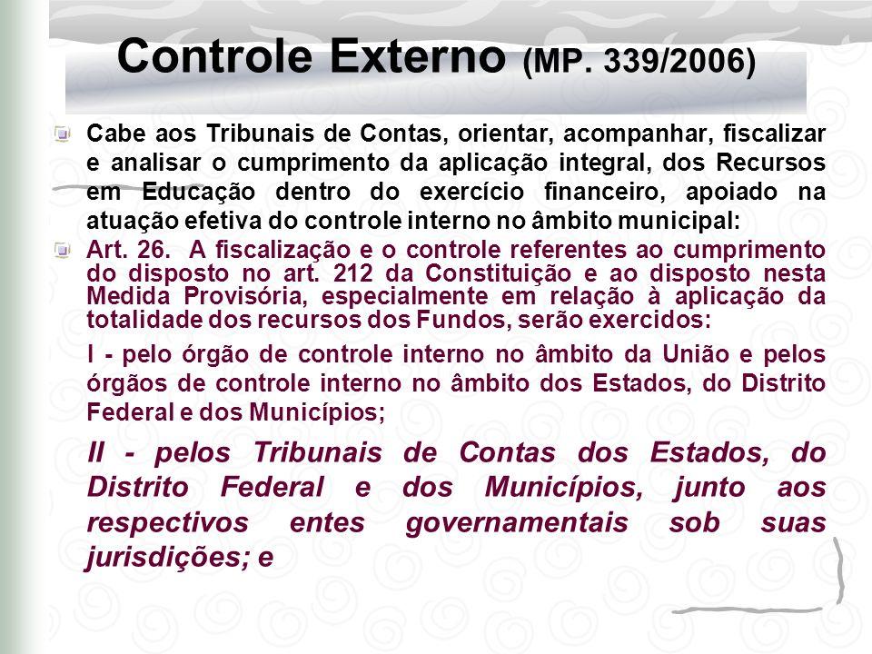 Controle Externo (MP. 339/2006)