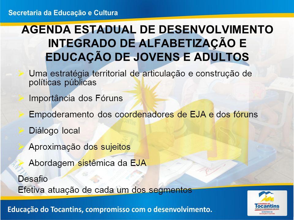 AGENDA ESTADUAL DE DESENVOLVIMENTO INTEGRADO DE ALFABETIZAÇÃO E EDUCAÇÃO DE JOVENS E ADULTOS