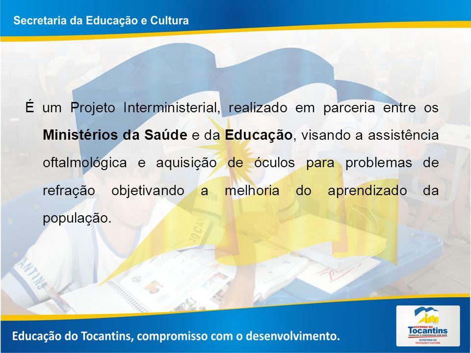 É um Projeto Interministerial, realizado em parceria entre os Ministérios da Saúde e da Educação, visando a assistência oftalmológica e aquisição de óculos para problemas de refração objetivando a melhoria do aprendizado da população.