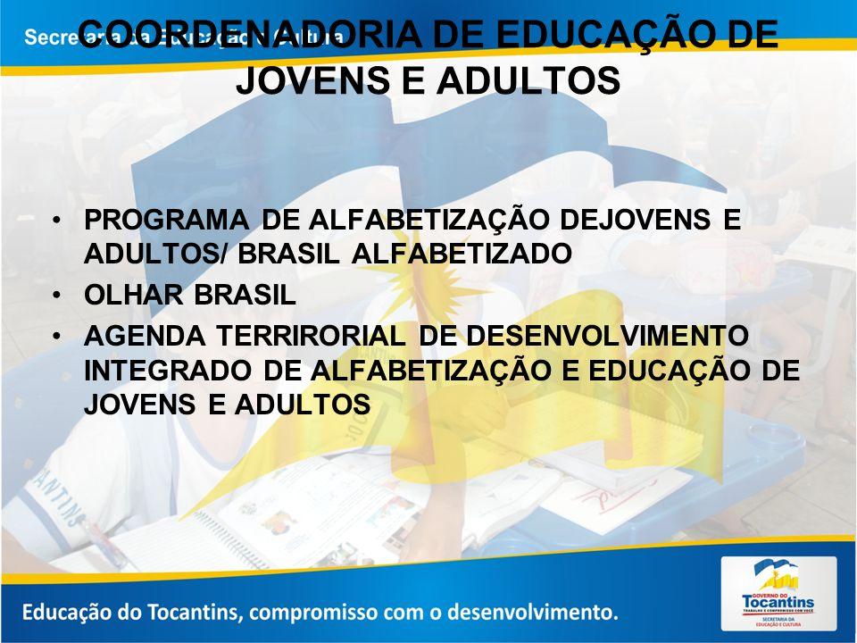 COORDENADORIA DE EDUCAÇÃO DE JOVENS E ADULTOS