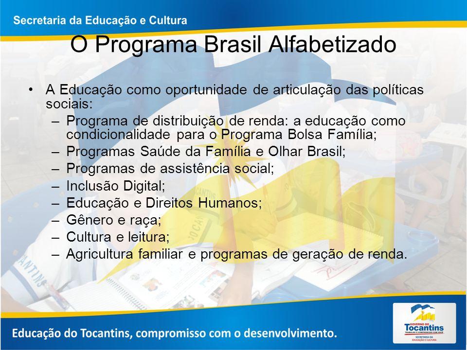 O Programa Brasil Alfabetizado