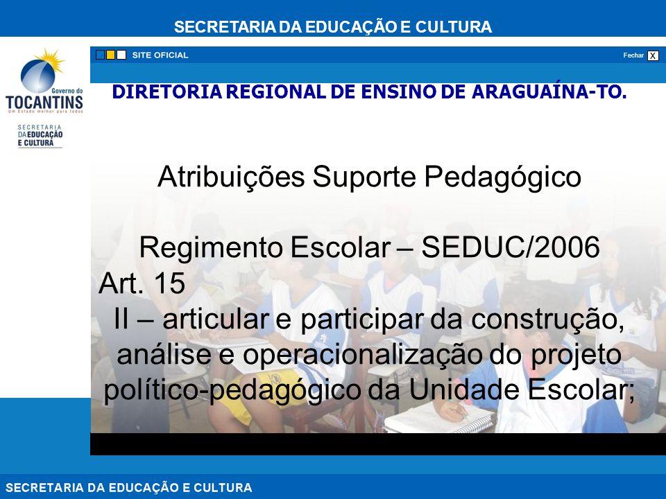 DIRETORIA REGIONAL DE ENSINO DE ARAGUAÍNA-TO.