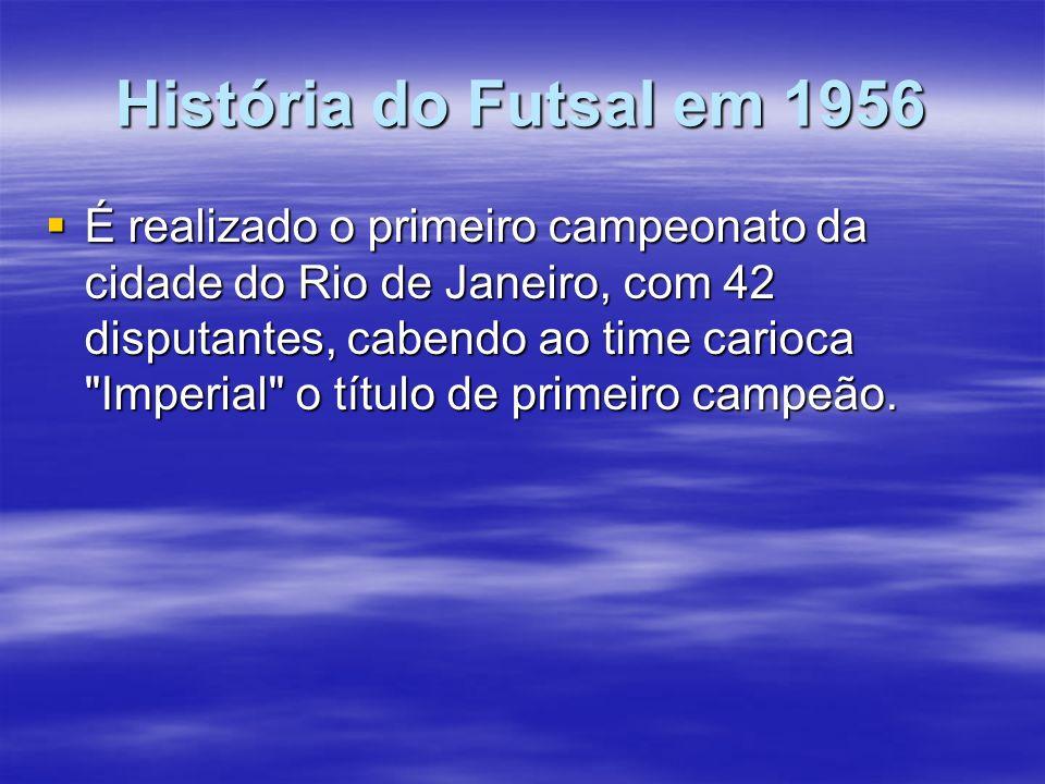 História do Futsal em 1956