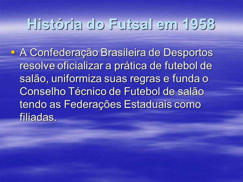 História do Futsal em 1958