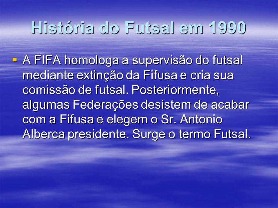 História do Futsal em 1990