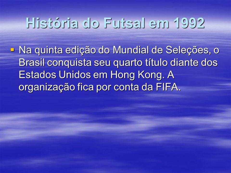 História do Futsal em 1992
