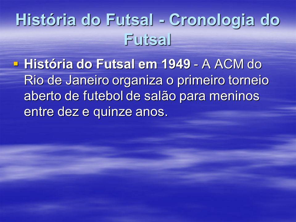História do Futsal - Cronologia do Futsal
