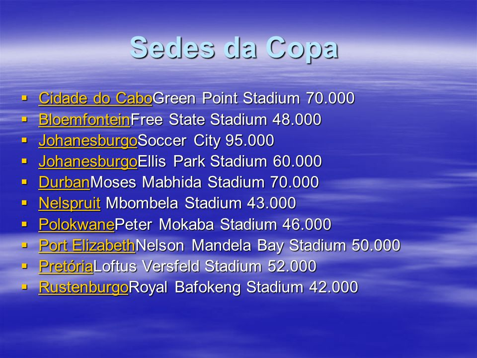 Sedes da Copa Cidade do CaboGreen Point Stadium 70.000