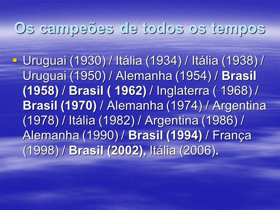 Os campeões de todos os tempos
