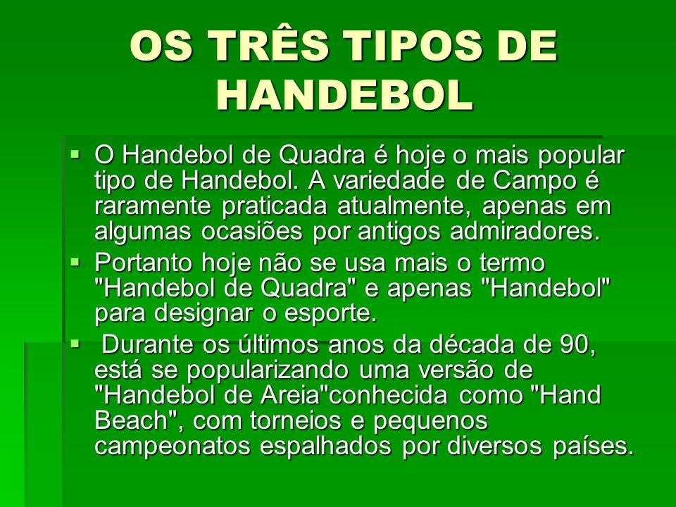 OS TRÊS TIPOS DE HANDEBOL