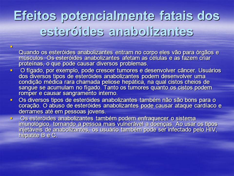 Efeitos potencialmente fatais dos esteróides anabolizantes