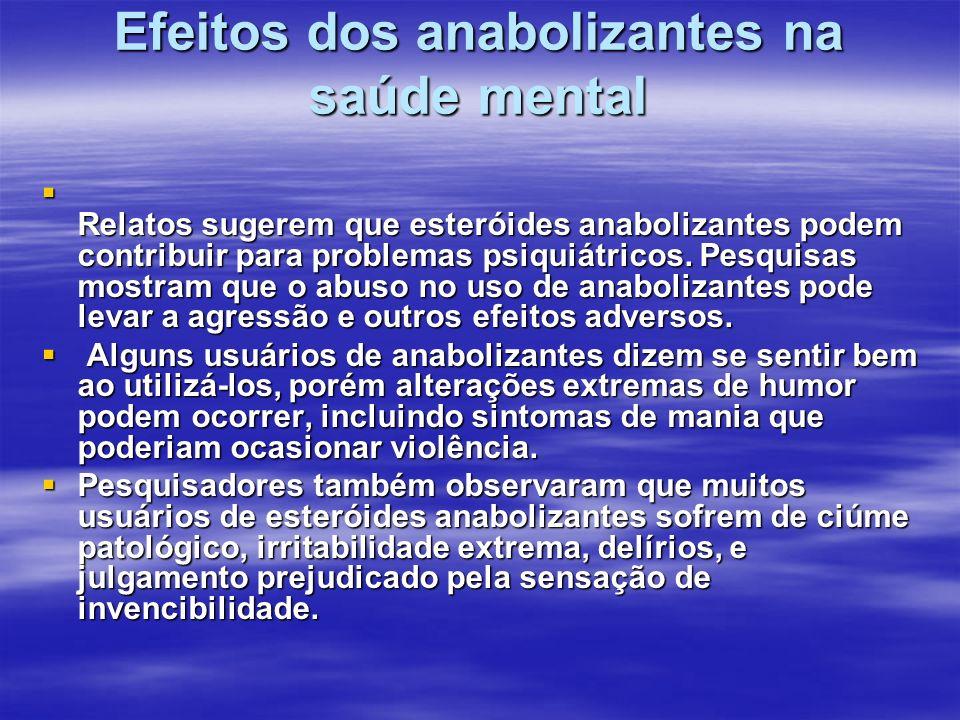 Efeitos dos anabolizantes na saúde mental