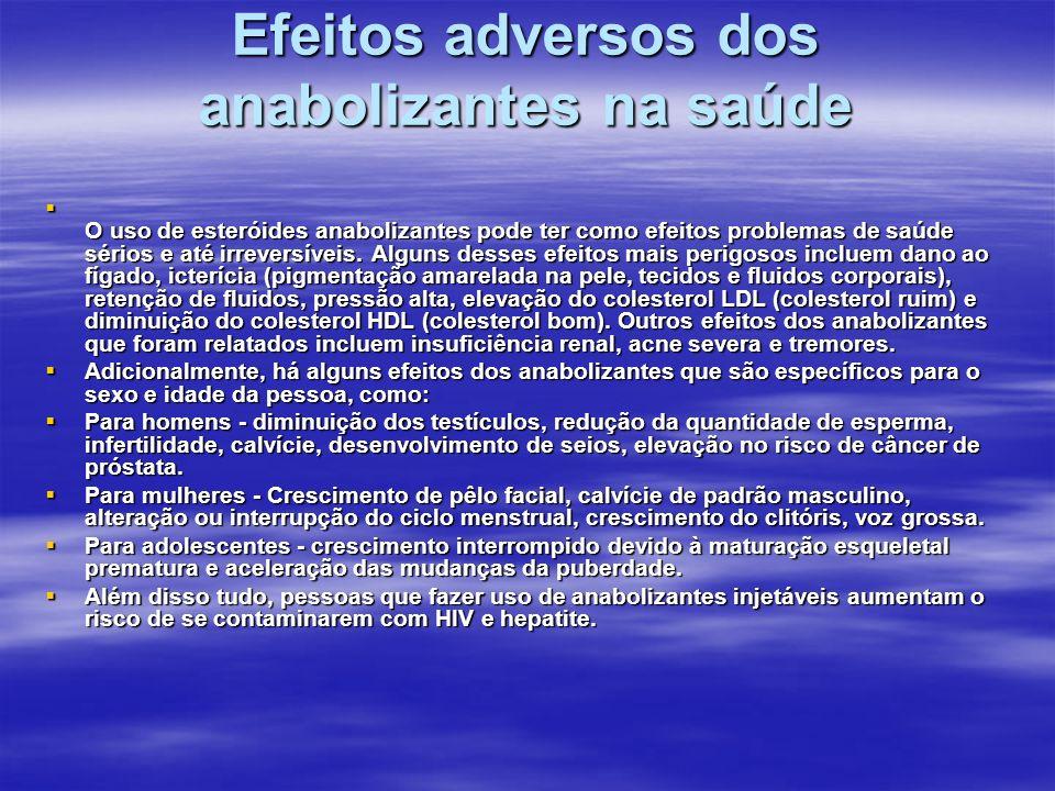 Efeitos adversos dos anabolizantes na saúde