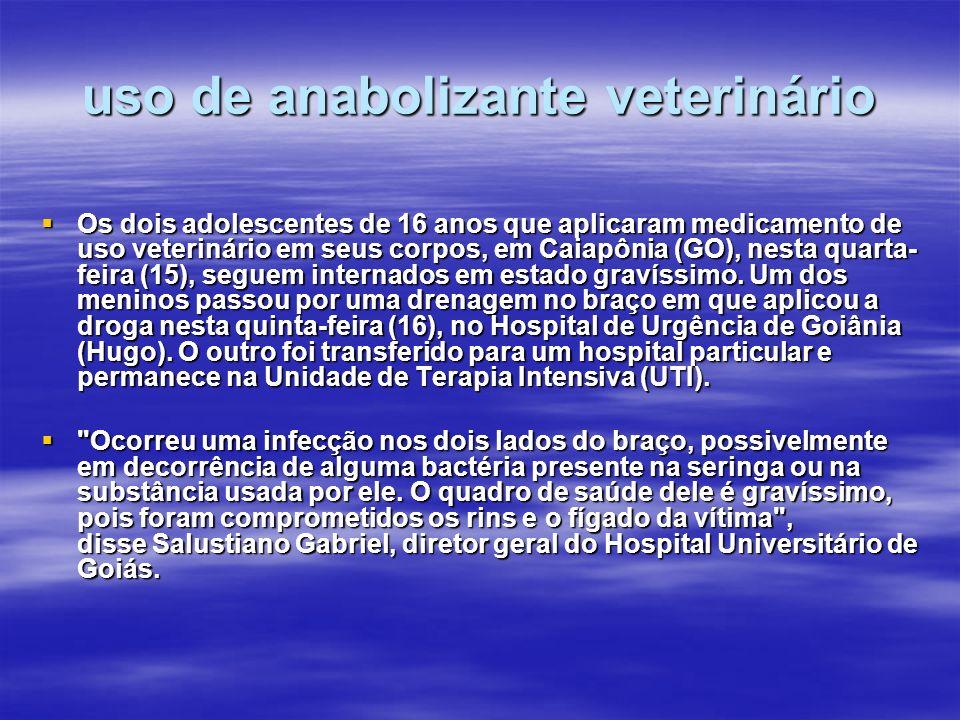 uso de anabolizante veterinário