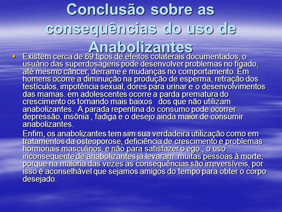 Conclusão sobre as consequências do uso de Anabolizantes