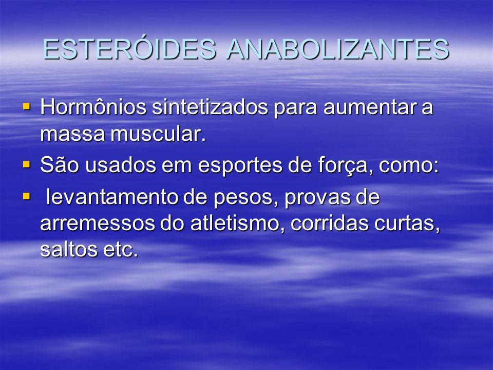 ESTERÓIDES ANABOLIZANTES