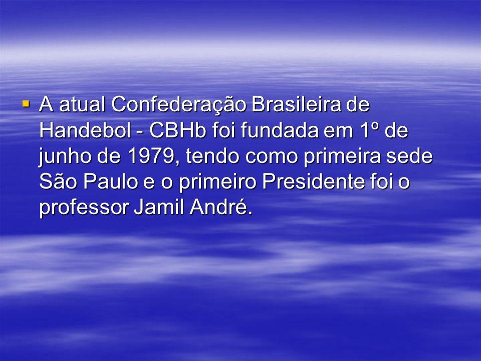 A atual Confederação Brasileira de Handebol - CBHb foi fundada em 1º de junho de 1979, tendo como primeira sede São Paulo e o primeiro Presidente foi o professor Jamil André.