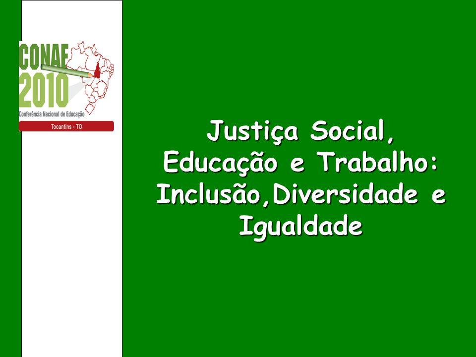 Justiça Social, Educação e Trabalho: Inclusão,Diversidade e Igualdade