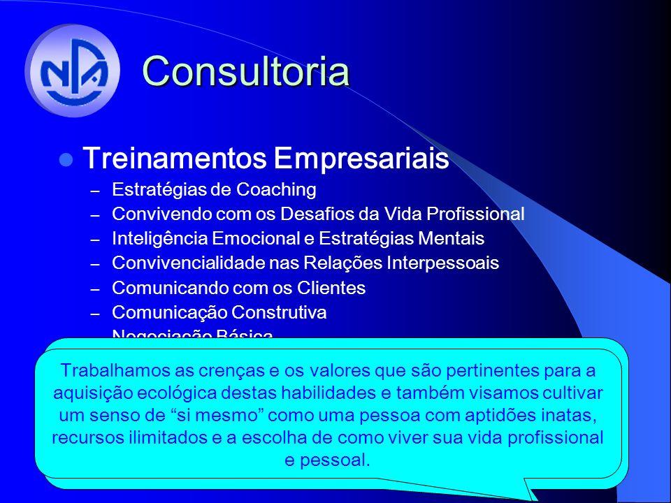 Consultoria Treinamentos Empresariais Estratégias de Coaching