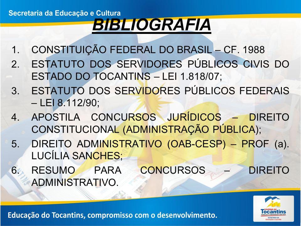 BIBLIOGRAFIA CONSTITUIÇÃO FEDERAL DO BRASIL – CF. 1988