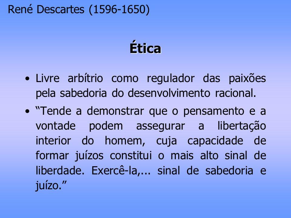 Ética René Descartes (1596-1650)