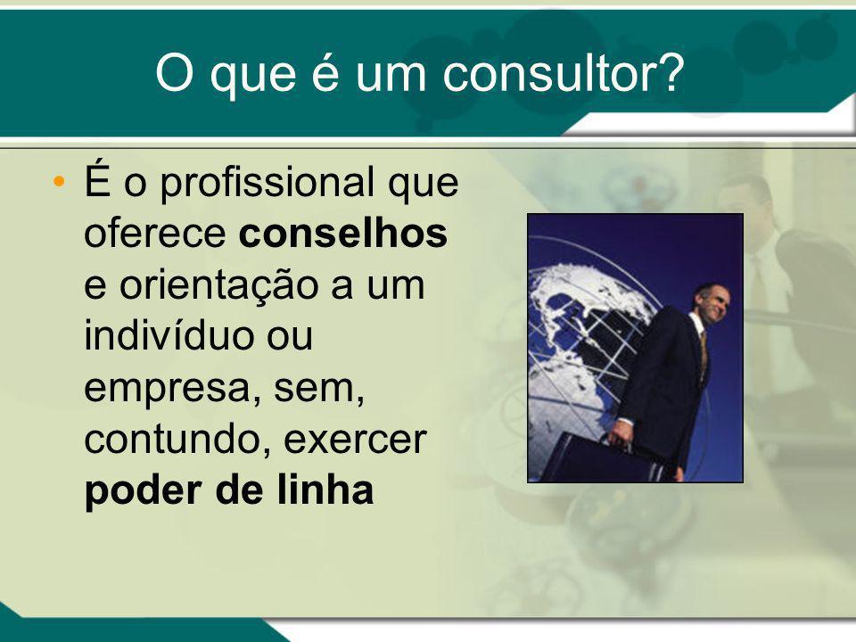 O que é um consultor.