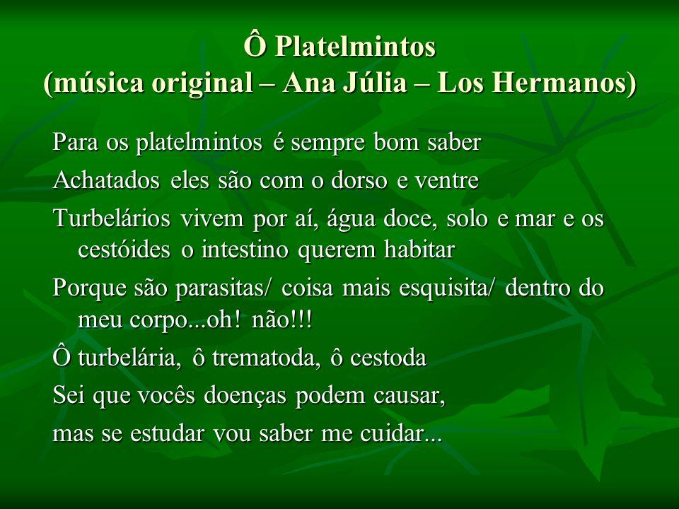 Ô Platelmintos (música original – Ana Júlia – Los Hermanos)