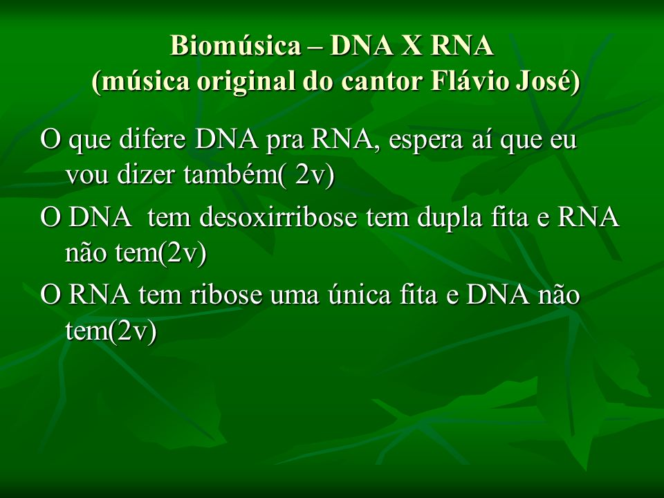 Biomúsica – DNA X RNA (música original do cantor Flávio José)