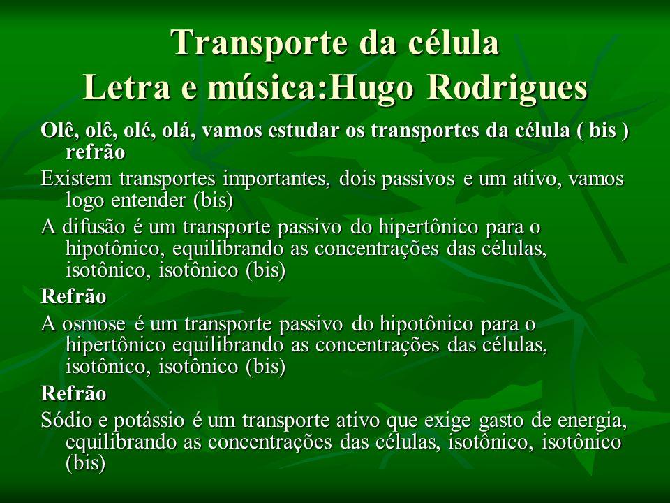 Transporte da célula Letra e música:Hugo Rodrigues