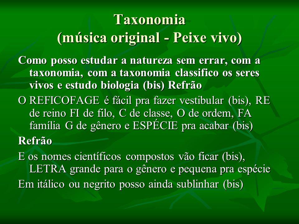 Taxonomia (música original - Peixe vivo)